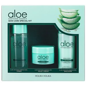 Aloe Soothing Essence Skin Care Special Kit, Holika Holika K-Beauty Setit
