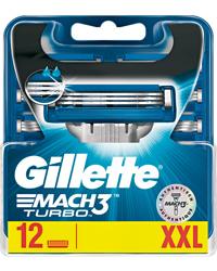 Gillette Mach3 Turbo 12-pack