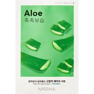 Airy Fit Sheet Mask (Aloe), 19 g MISSHA Vaihe 7: Kangasnaamio