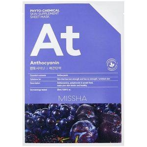 Phytochemical Skin Supplement Sheet Mask Anthocyanin, 25 ml MISSHA Vaihe 7: Kangasnaamio
