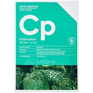 Phytochemical Skin Supplement Sheet Mask Chlorophyll, 25 ml MISSHA Vaihe 7: Kangasnaamio
