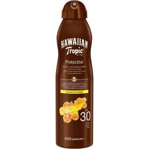 Hawaiian Tropic Dry Oil Coconut & Mango C-Spray SPF 30, 180 ml Hawaiian Tropic Päivetys