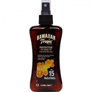Hawaiian Tropic Protective Dry Spray Oil, SPF 15, 200 ml Hawaiian Tropic Aurinkovoiteet