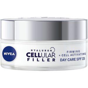 Hylauron Cellular Filler + Firming Day Cream SPF 15, 50 ml Nivea Vartalon kosteutus