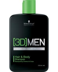 3D Men Hair & Body Shampoo 250ml