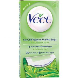 Veet EasyGrip Ready-to-Use Wax Strips, Veet Karvanpoisto