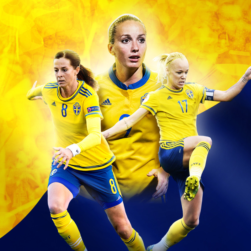 Sveriges damlandslag spelar fotbollslandskamp i Växjö 13 juni