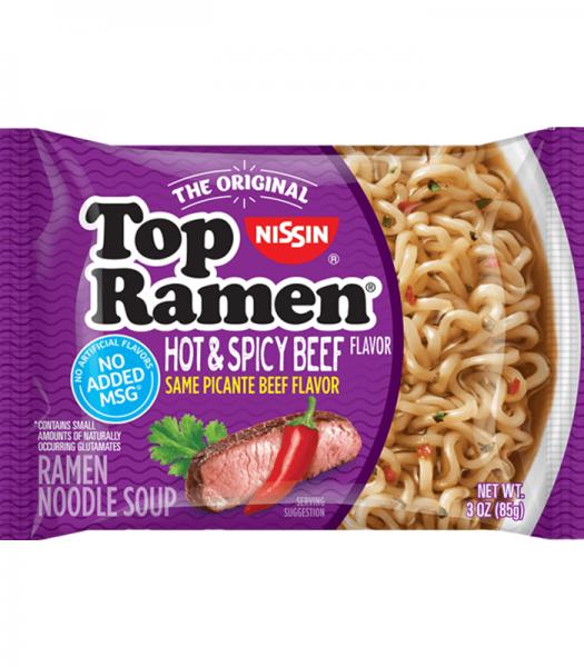 Nissin Top Ramen Hot & Spicy Beef 85g