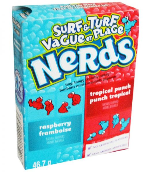 """Godis """"Nerds Surf & Turf"""" 46,7g - 44% rabatt"""