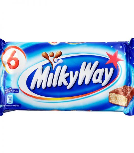 """Chokladbars """"Milky Way"""" 6 x 21,5g - 48% rabatt"""