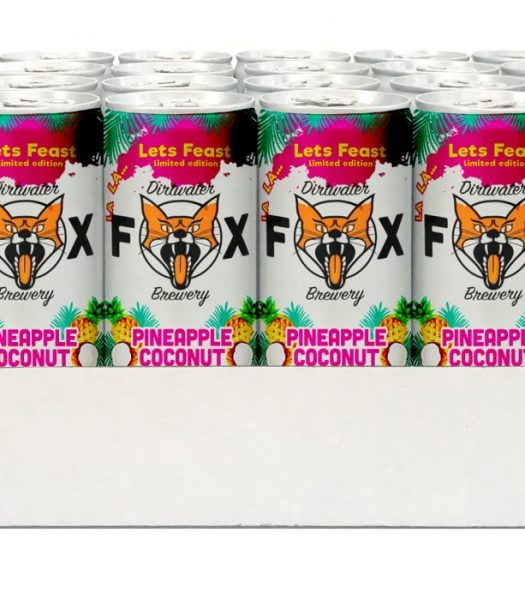Dirtwater Fox Pinapple Coconut Lets Feast 24x25cl