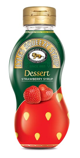 Lyles Squeezy Syrup Strawberry Syrup 325g