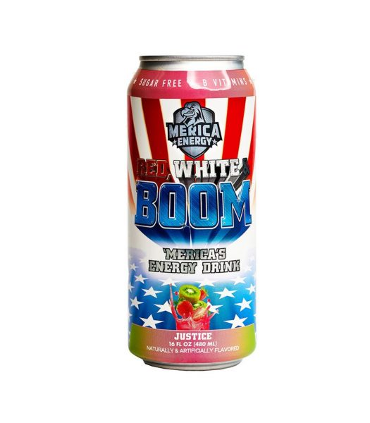 Merica Energy Red, White & Boom - Justice 480ml
