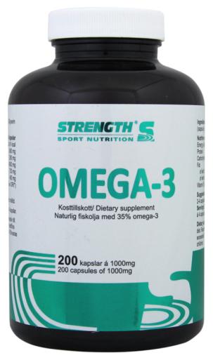 Strength Omega-3 200 kapslar 1000mg