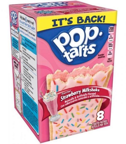 Kelloggs Pop-Tarts Frosted Strawberry Milkshake 384g
