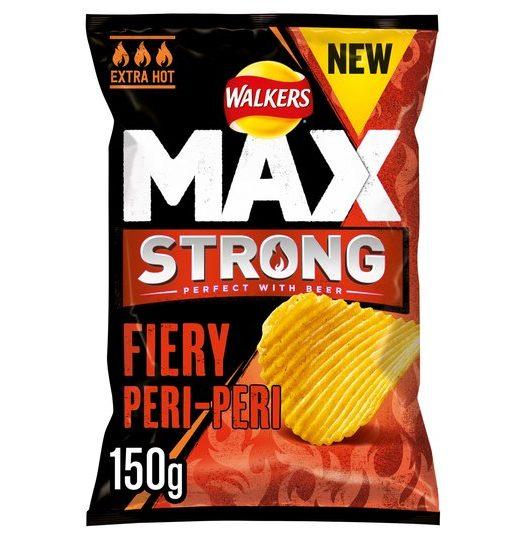 Walkers Max Strong Peri Peri Chips 150g