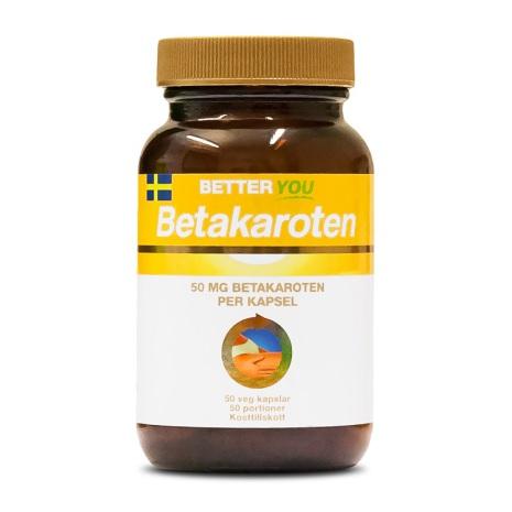 Better You Betakaroten 50mg 50 kapslar