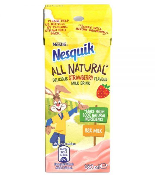 Nesquik All Natural Strawberry Milk 180ml